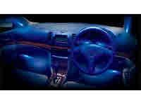 カーメイト 4連マイクロLEDランプ ブルー NZ732