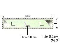 カネヤ 風抜穴付防風ネット(ネットのみ) K-1964F