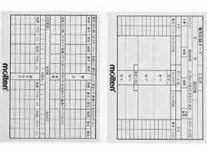 モルテン サッカー用審判記録カード XFSN