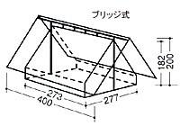 中津テント 常設テント(ボーイスカウト用) TM-840