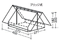 中津テント 常設テント(ボーイスカウト用) TM-846