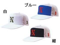 ナショナルハット ニットバックメッシュ角ワイド型野球帽(アジャスター式) N-513
