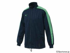プーマ トレーニングジャケット(ネイビー×Iグリーン) 862220-74