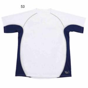 レワード 2ボタンメッシュシャツ(UFS-19)ホワイト×Dブルー UFS-1953