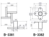 トーエイライト ソフランベース3(3枚1組/上金具/埋込金具/ゴムフタ付) B-3368