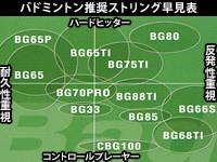 ヨネックス 強チタン(100m) BG65T-1