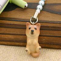PetLovers DOG わんこビーズストラップ(柴犬/赤)[納期1-2週間]