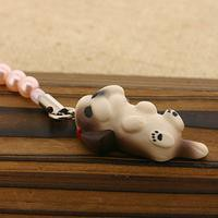 PetLovers DOG わんこビーズストラップ(シーズー/ブラウン&ホワイト)[納期1-2週間]