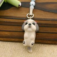 PetLovers DOG わんこビーズストラップ(シーズー/ブルー&ホワイト)[納期1-2週間]