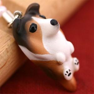 PetLovers DOG わんこビーズストラップ(シェルティー/ピュアセーブル)[納期1-2週間]
