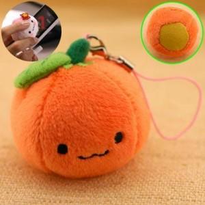 ぬいぐるみ みかんちゃんクリーナーストラップ(オレンジ)