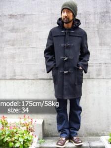 グローバーオール GLOVERALL 512C ダッフルコート ブラック (防寒 DUFFLECOAT 英国製)