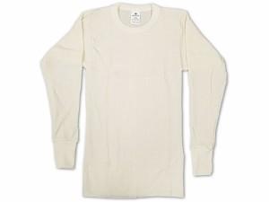 インデラミルズ INDERA MILLS LONG JOHNS サーマル アンダーウェア 長袖Tシャツ ナチュラル (ロンT THERMALS L/S CREW 下着)