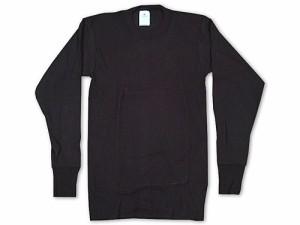 インデラミルズ INDERA MILLS LONG JOHNS サーマル アンダーウェア 長袖Tシャツ ブラック (ロンT THERMALS L/S CREW 下着)