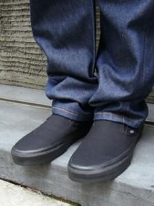 バンズ VANS 米国規格 クラシック スリッポン ブラック/ブラック (ヴァンズ スリップオン CLASSIC SLIP-ON Black/Black)