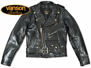 バンソン VANSON C2 ダブルライダース ブラック MADE IN USA (レザージャケット BLACK)
