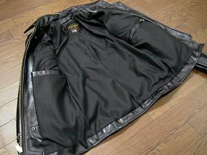 バンソン VANSON ENF シングルライダース ブラック MADE IN USA (エンフィールド 襟付 レザージャケット BLACK)