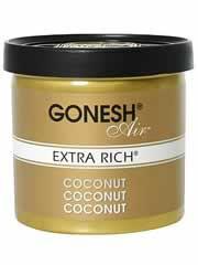 【GONESH(ガーネッシュ) ゲルエアフレッシュナー エクストラリッチ ココナッツ】※キャンセル・変更・返品交換不可