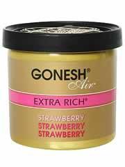 【GONESH(ガーネッシュ) ゲルエアフレッシュナー エクストラリッチ ストロベリー】※キャンセル・変更・返品交換不可