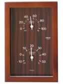 【クレセル 天然木 温度計・湿度計 (壁掛け・卓上両用) CR-660C】※受け取り日指定不可※税抜5000円以上送料無料
