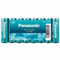 【パナソニック カラーアルカリ乾電池 単3形 8本パック アクアグリーン LR6LJG/8SW】[代引選択不可]