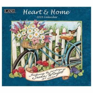 2019 カレンダー ラング LANG HEART & HOME Susan Winget 壁掛け インテリア平成31年 暦  予約 cp100