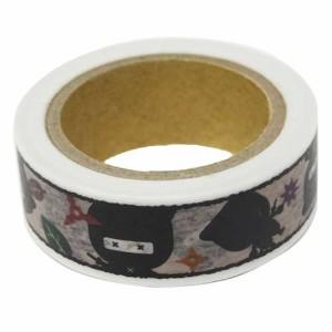 忍者 マスキングテープ 和紙デコテープ キャラクターグッズ通販 【メール便可】