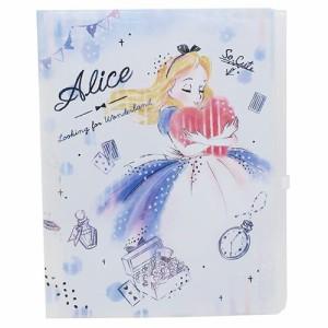【クーポン】ふしぎの国のアリス ファイル ジップファスナー付 6ポケット A4 クリアファイル ハート ディズニー キャラクターグッズ通販