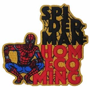スパイダーマン:ホームカミング ワッペン アイロン パッチ HOME COMING マーベル キャラクターグッズ通販 【メール便可】
