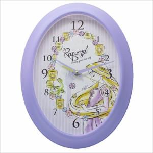 塔の上のラプンツェル 壁掛け時計 オーバル ウォールクロックディズニープリンセス キャラクター グッズ