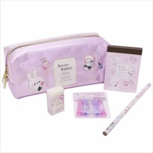 Secret Rabbit 文房具セット ステーショナリー5点セット コスメモチーフ  女の子向けグッズ通販