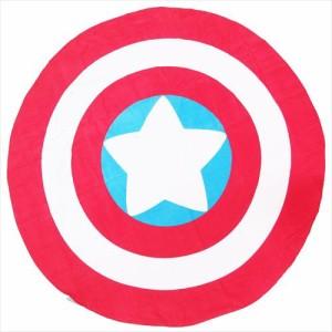 送料無料 キャプテンアメリカ タオルケット ダイカットビーチタオル ラウンドシールド マーベル キャラクターグッズ通販