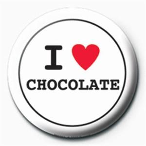 サブカル缶バッジ I Love Chocolate メール便可