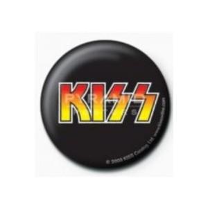 【クーポン】SALE ロック缶バッジ KISS ロゴ