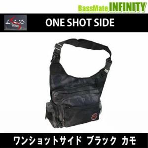 ●LSDデザイン ワンショットサイド ブラックカモ