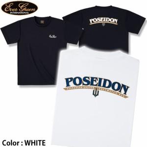 ●エバーグリーン EGドライTシャツ(半袖) ポセイドンAタイプ(ホワイト) 【メール便配送可】
