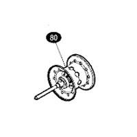 ●シマノ 16 メタニウムMGL XG (8.5) 左ハンドル (03535)用 純正標準スプール (パーツ品番105) 【キャンセル及び返品不可商品】