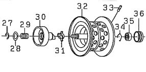 ●ダイワ T3 AIR6.8R-TW(4960652883986)用 純正標準スプール (部品コード129539) 【キャンセル及び返品不可商品】