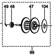 ●アブガルシア クロスフィールド-L(左ハンドル)(1343897)用 純正標準スプール (パーツID1362782) 【キャンセル及び返品不可商品】