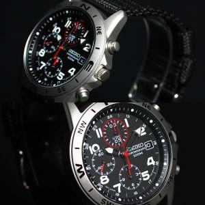 セイコー 逆輸入 SEIKO 腕時計 ミリタリー クロノグラフ SND399P1 メンズ 腕時計