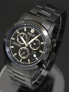 【送料無料】SWISS MILITARY スイスミリタリー 腕時計 PVD BLACK BIG CHRONO ML247