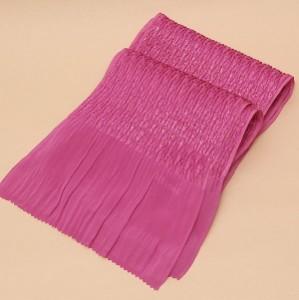 振袖用帯揚げ「丹後ちりめんふくら織り金通し ショッキングピンクパープル」