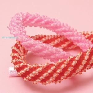 ちんころ「子供用髪紐」赤、ピンク