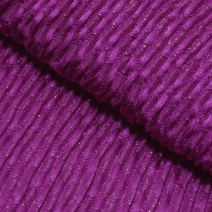 振袖用帯揚げ「丹後ちりめんふくら織り金通し 濃い紫」