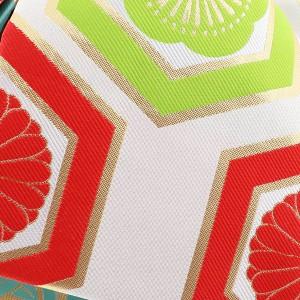 7歳の女の子向け 結び帯「白色 亀甲」ひな祭り、桃の節句 紅一点 七五三 付け帯 ブランド作り帯  [送料無料]