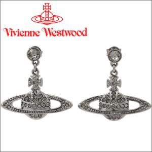 ヴィヴィアンウエストウッド ピアス Vivienne Westwood ヴィヴィアン ミニバスレリーフドロップピアス ガンメタル