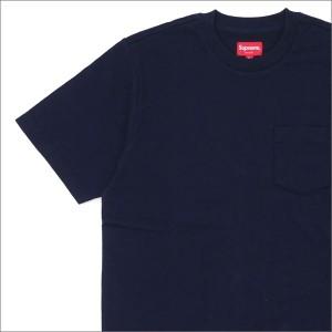 (新品)SUPREME(シュプリーム) S/S Pocket Tee (Tシャツ) NAVY 203-000256-037+【新品】(半袖Tシャツ)