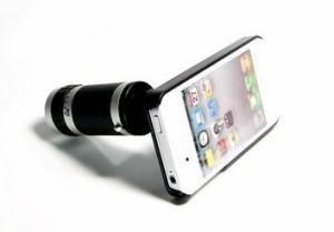 iPhone4S/4用 望遠レンズ8倍 ケース付き