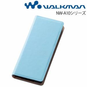 ☆ WALKMAN NW-A10シリーズ 専用 ブックカバータイプ・カラフル・レザージャケット(合皮)/ブルー RT-SA10LBC2/A