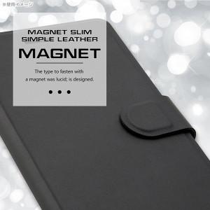 ☆ Xperia X Performance 専用 手帳型ケース シンプル マグネット スリム ブラック RT-RXPXPELC2/B